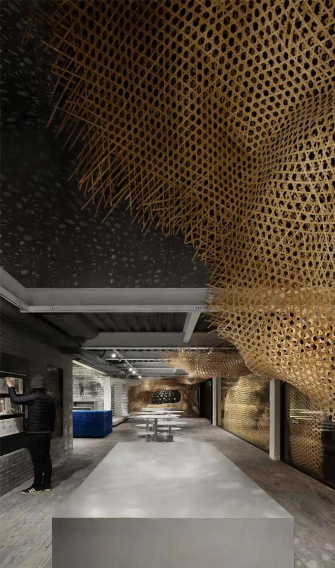 Striking interior of The Arts Bridge Space in Shanghai
