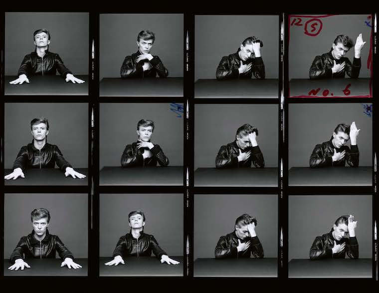 Sukita's contact strip for David Bowie's Heroes