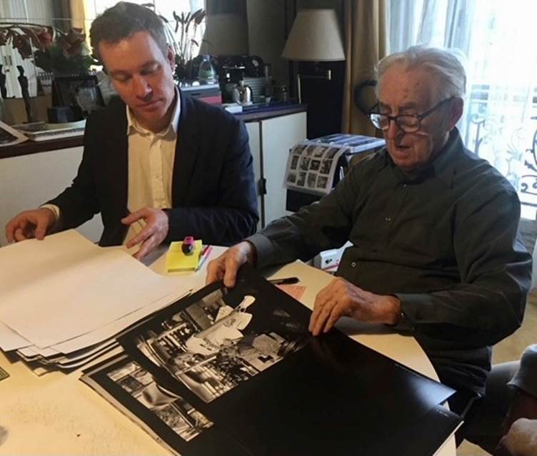 James Smith, CEO & Publisher, ACC Art Books with Raymond Cauchetier