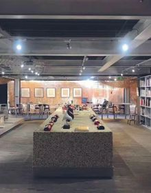 """""""The Arts Bridge Space, a newly opened collaborative hub in Shanghai, blends art, design, literature, and food for a unique experience that embraces creativity at every turn."""""""