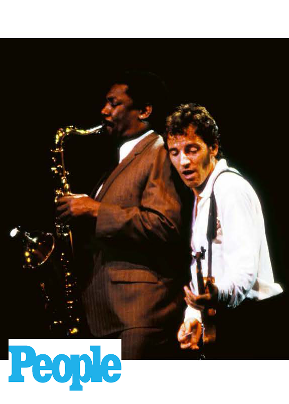 Bruce Springsteen, legendary rock 'n' roll star, live on stage by Janet Macoska