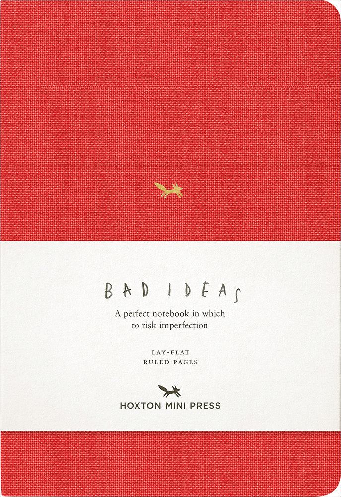 A Notebook for Bad Ideas (red/lined)