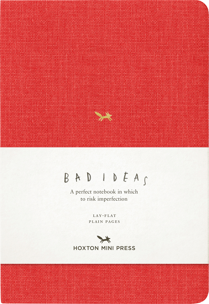 A Notebook for Bad Ideas (red/unlined)