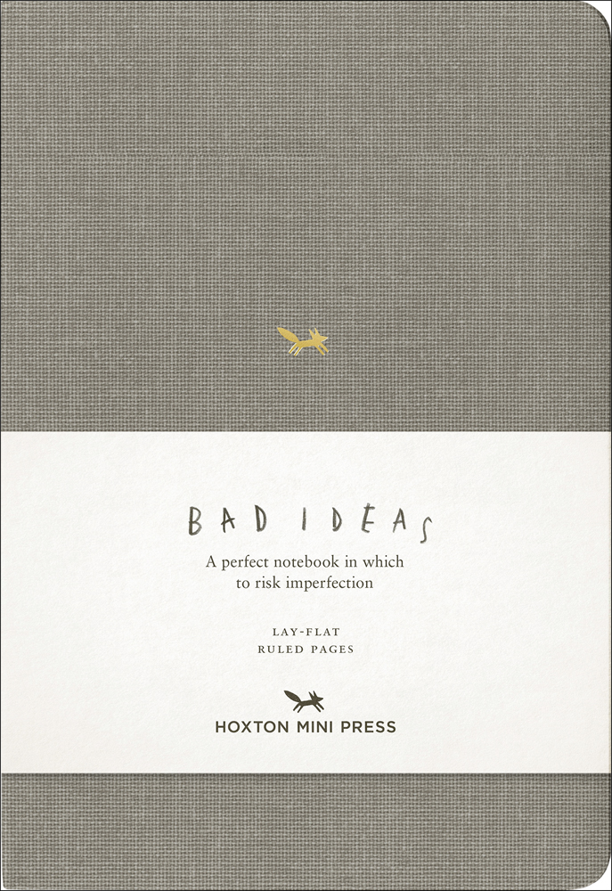 A Notebook for Bad Ideas (grey/lined)