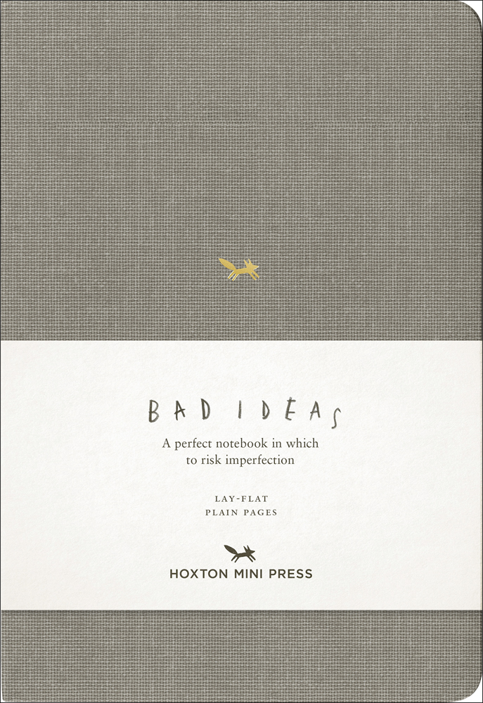 A Notebook for Bad Ideas (grey/unlined)