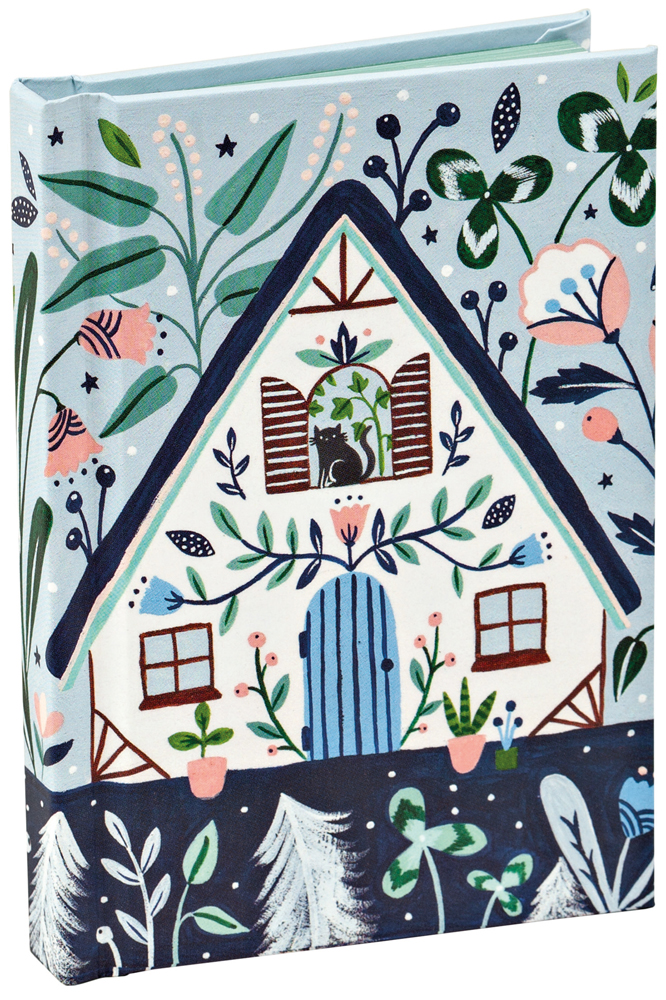 Black Cat Cottage Mini Notebook