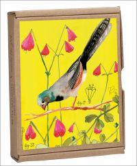 Vintage Birds GreenNotes