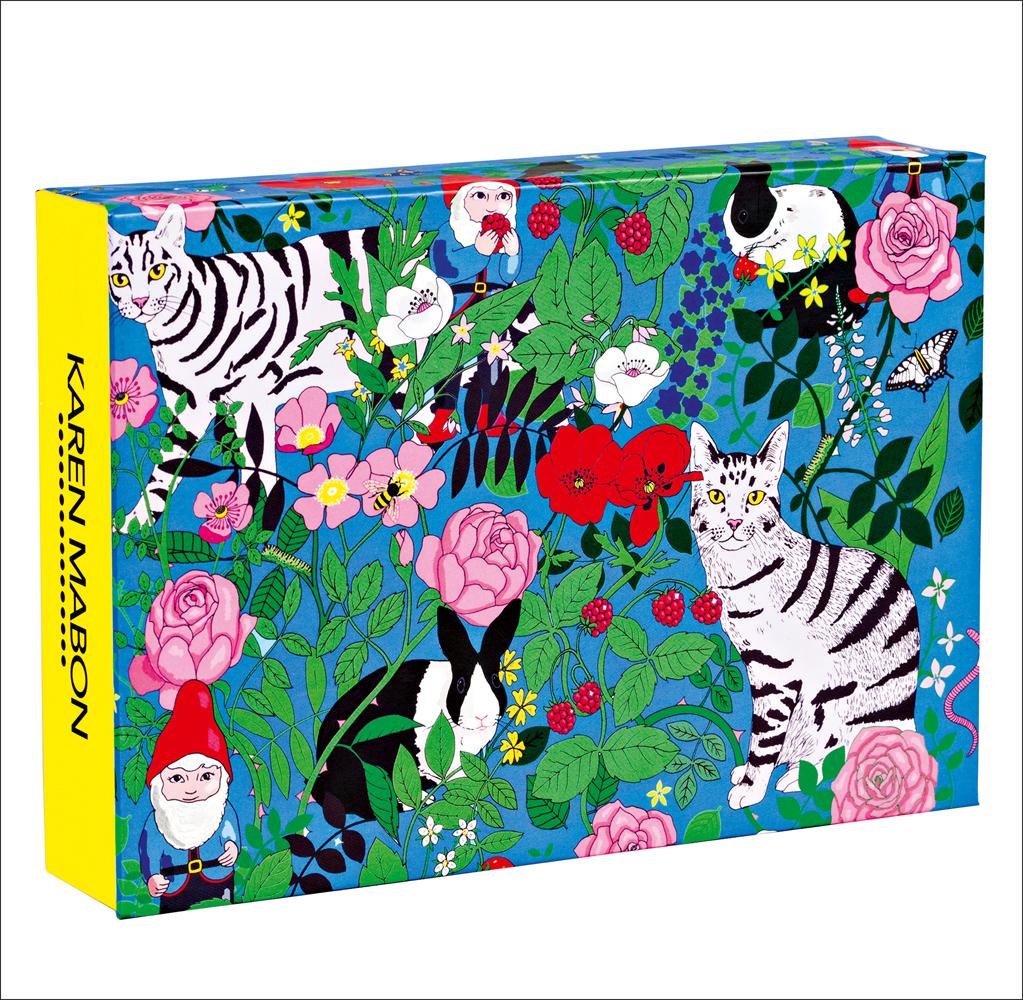 Garden Gnomes FlipTop Notecard Box