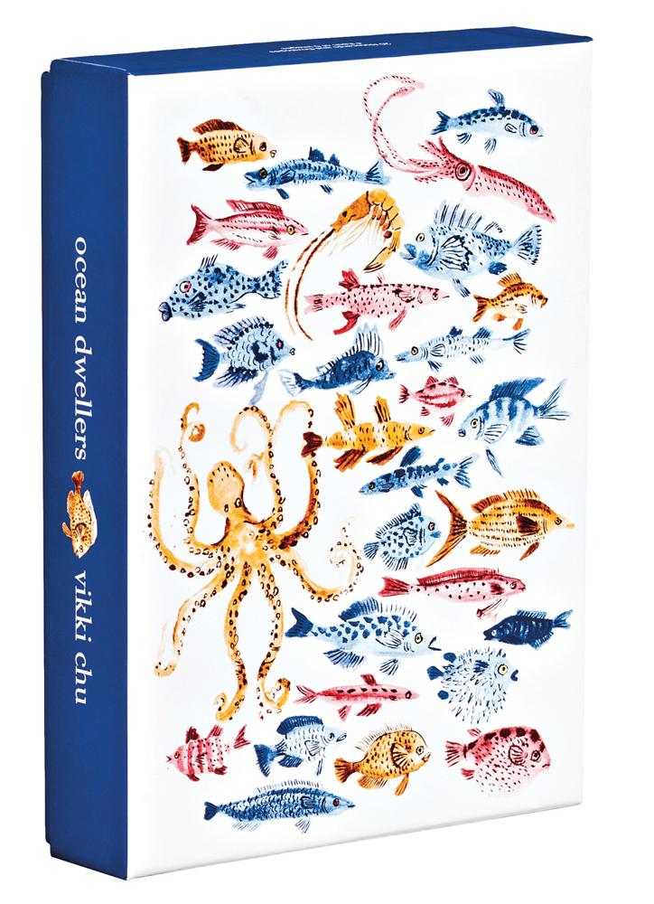 Ocean Dwellers Notecard Box
