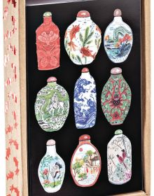 Vintage China Luxe Foil Notecard Box