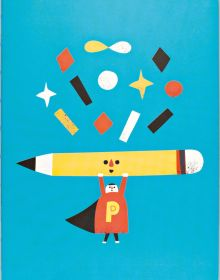 Pencil Man, A5 Notebook