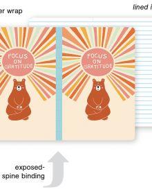 Gratitude Bear Small Bullet Journal